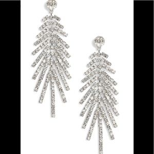 Cristabelle rhinestone fringe earrings